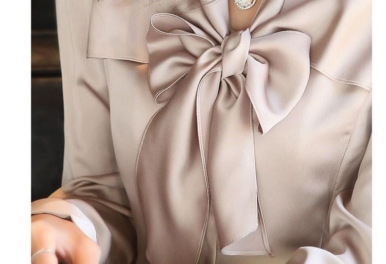 Новый осень шифон рубашки женщины блузка тонкий Blusas с длинным рукавом Bl